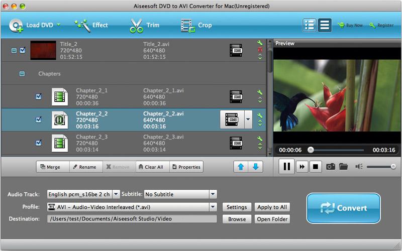 Dvd Converter To Avi For Mac